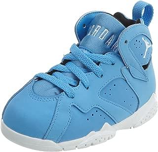 NIKE Kids Jordan 7 Retro BT Blue/White/Black 304772-400