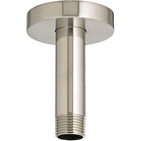 Danze D481316BN 6-Inch Ceiling Mount Shower Arm with Flange Brushed Nickel