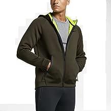Nike Men's Therma-Sphere Max Training Hoodie 800227-325 Cargo Khaki/Volt (Medium)