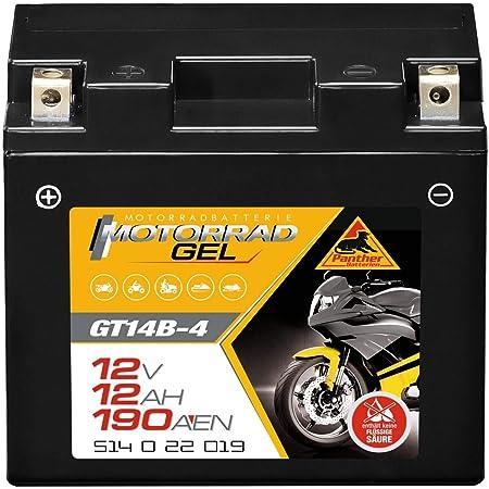 Panther Gel Batterie 12v 12ah Yt14b 4 Motorradbatterie Din 51422 Quad Gt14 B4 Auto