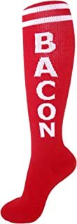 Bacon Socks - Red and White Unisex Knee High Socks