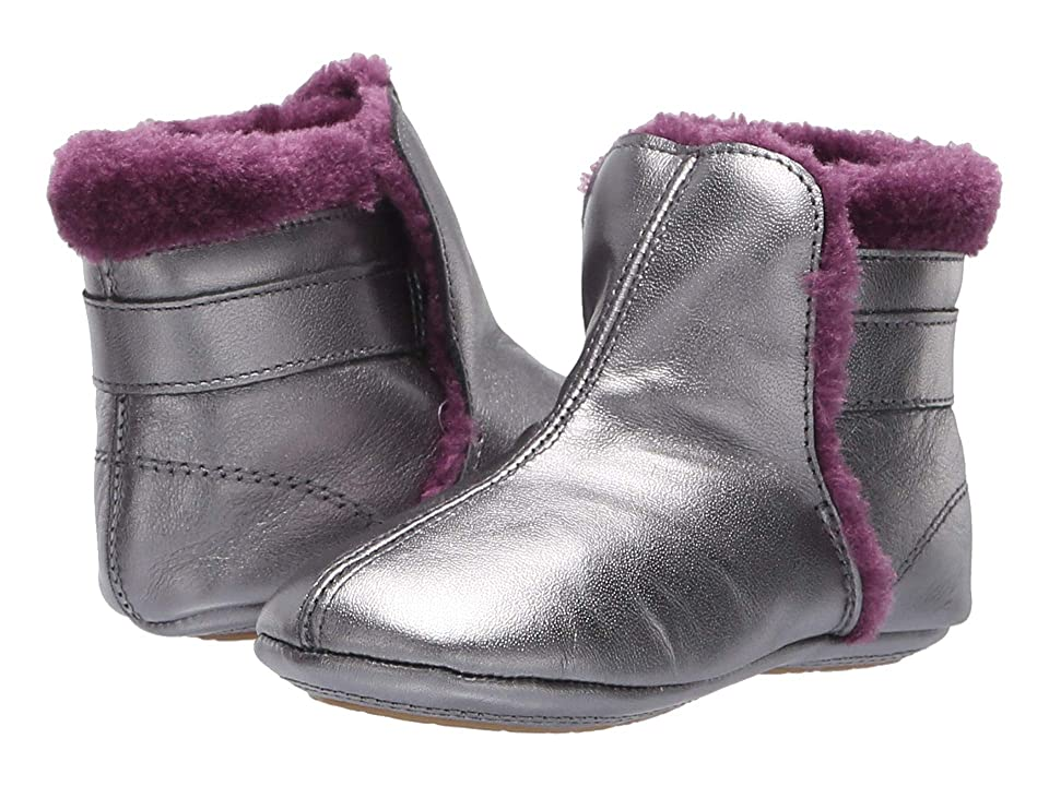 Old Soles Polar Boot (Infant/Toddler) (Rich Silver/Plum) Girl