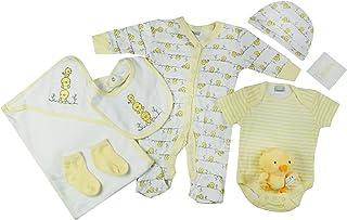 Unisex Little Ducks Theme Presents Gifts for Newborn Baby Boys Girls Toddler Unisex Cute Clothing Sets Sleepsuit Vest Bib ...