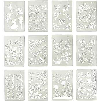 en Plastique Efco Pochoir Lettres Petit//26/Designs DIN A 5 Transparent