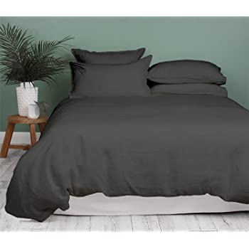 Bluemoon Homes Duvet Cover King Zipper Closure Cotton 1000 Thread Count Elephant Grey King 3 Piece Duvet Cover Set, 100% Long Staple Egyptian Cotton Quilt Cover Cal King Size, Silky Soft, Breathable