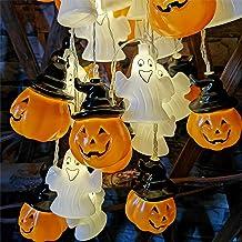 ohcoolstule Pompoen Ghost Led Light Party Mall Event Decoratie Licht Halloween Led Batterij Aangedreven Oranje Halloween G...