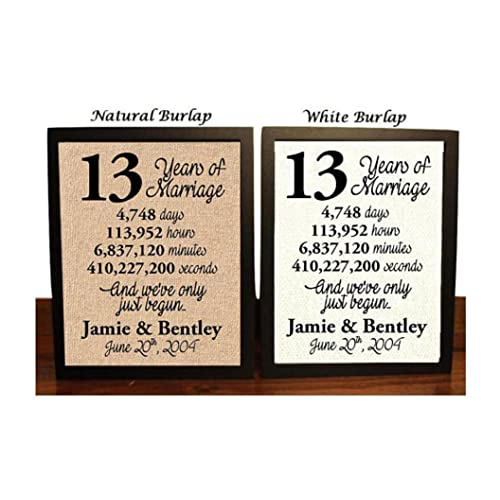 13th Wedding Anniversary Gift Ideas For Him: 13th Anniversary Gifts: Amazon.com