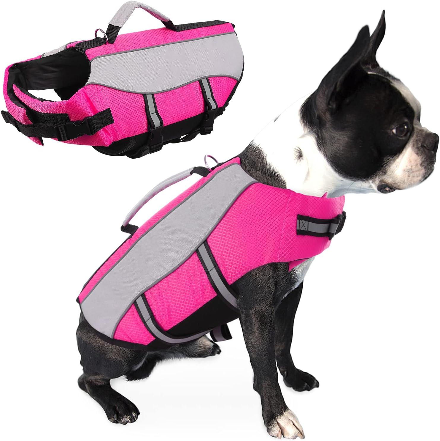 Queenmore Dog Life Jacket 5 ☆ popular High Pet Trust Vest with Buoyancy Resc