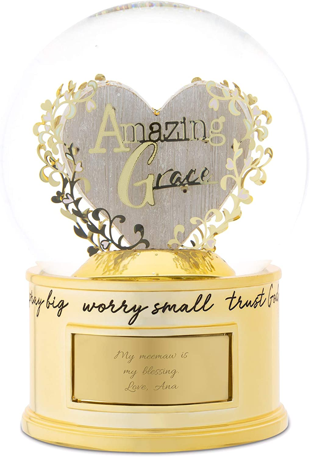 THINGS REMEMBERED Personalized Amazing Grace Snow Globe Fresno Mall Free shipping anywhere in the nation Musical