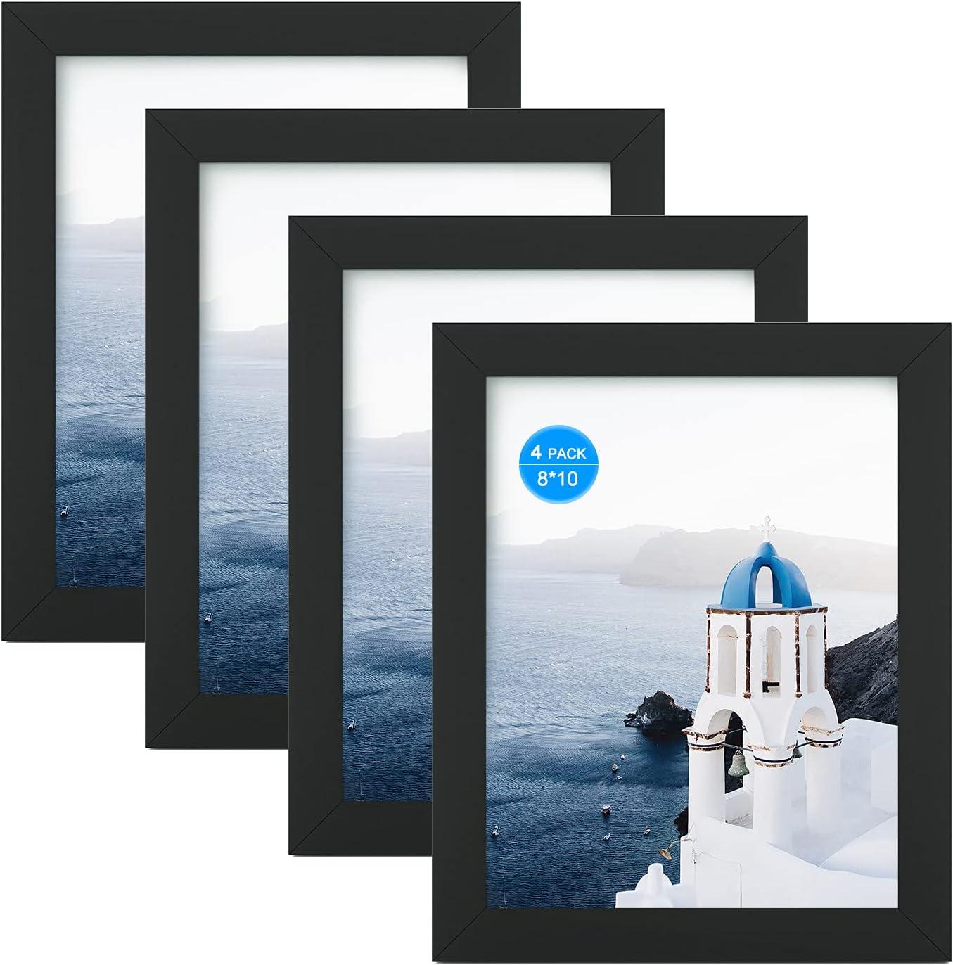 超安い FRAME YI 8x10 Black Picture Frame 新作 大人気 Photo 4 for Frames Set Pack