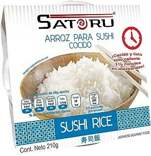 Satoru Arroz para Sushi Cocido, Tipico Harinoso, 210 Gramos