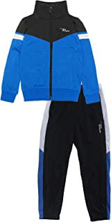 PHIBEE Boys' 2 Piece Zip Up Tricot Track Jacket and Pant Set