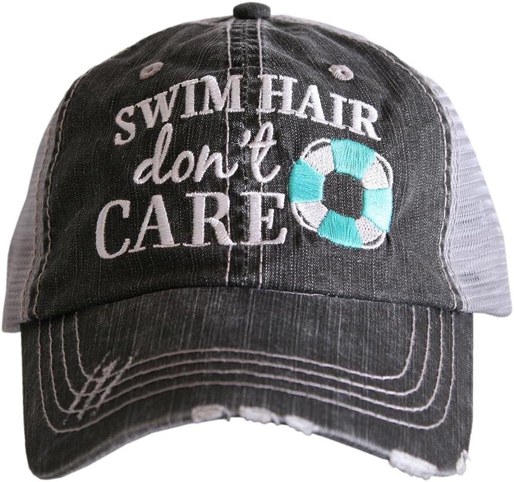 KATYDID Swim Hair Don't Care Women's Baseball Hats Caps