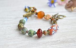 Bracciale Boho con perline e ciondoli colorati per le donne