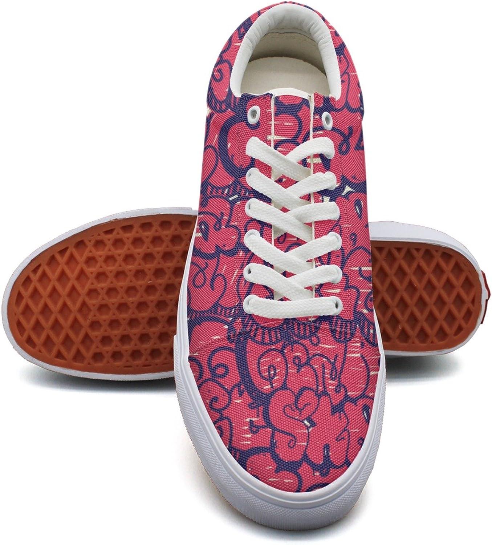 Feenfling Graffiti Wall Art Womens Fashion Sneakers shoes Low Top Cute Basketball shoes for Women's