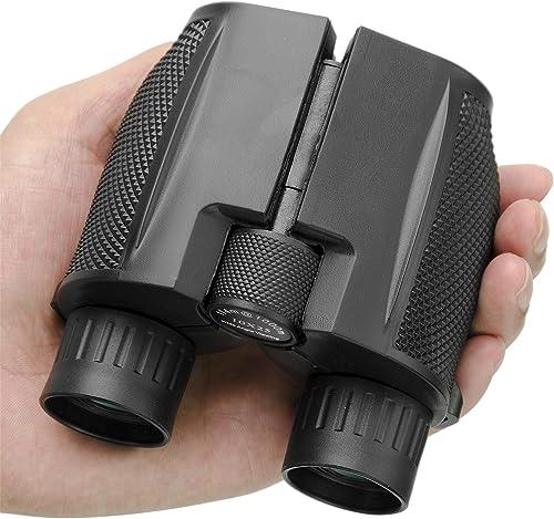 Beileshi Binocular Telescope 10x25 Compact High Powered Outdoor Sports Binocular Telescope Pocket Scope for Birdwatch...