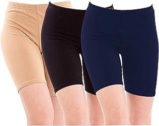 Pixie Women & Girls Cycling Shorts (Pack of 3)