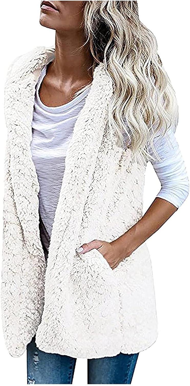 Women's 2021 autumn and winter new Sleeveless Vest Plush Lapel Casu Long Loose Top Cardigan 100% quality warranty!