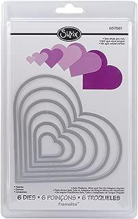 Sizzix Framelits Die Set 6/PK - Hearts