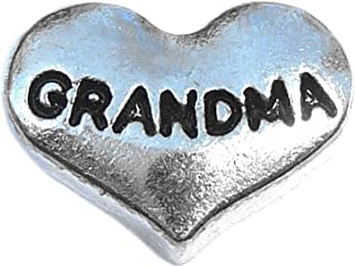 Grandma Silver Heart Floating Locket Charm