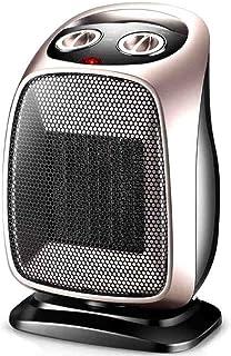 FEI Calefactor Calentador PTC Ceramic Heating Portable 1500 W Oro Negro Corte de Seguridad de inclinación (Color : Oro)
