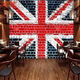 Brick Wall Tooling Background Wall Painting England Flag Wallpaper Retro Bar Wallpaper-350Cm×245Cm