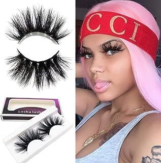Losha High Volume Mink Lashes Cruelty-free 25mm Long 5D Eyelashes Dramatic Look for Makeup (GS529) /False Eyelashes