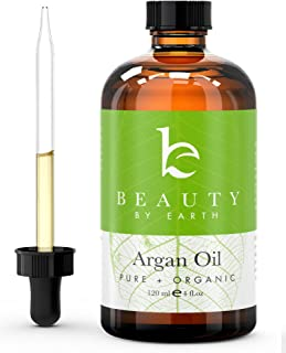 Argan Oil - USDA Organic Moroccan Oil, Virgin, Cold Pressed and Best for Hair, Skin, Nails Moisturizing and Treatment of Frizz, Early Aging and Wrinkles. Imported from Morocco, 4 oz