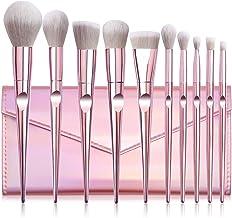 Makeup Brush Set, MAGEFY 10PcsMakeupBrushes Premium Synthetic Contour Highlight Foundation Professional Makeup Brush Set with Cosmetic Bag for Women Girls