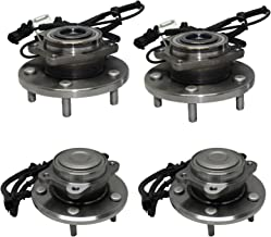 Detroit Axle - Front Wheel Bearing and Rear Hub Assembly Set for 2008 2009 2010 2011 2012 Dodge Grand Caravan - [2008-2012 Chrysler Town & Country] - 2009-2012 Volkswagen Routan