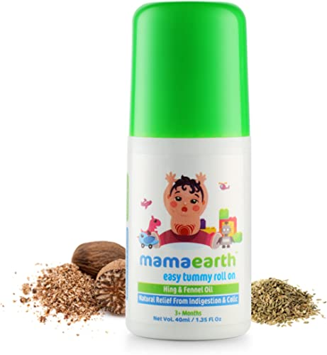 Mamaearth Easy Tummy Roll On for Colic & Gas Relief with Hing & Fennel Oil 40ml (for External use)
