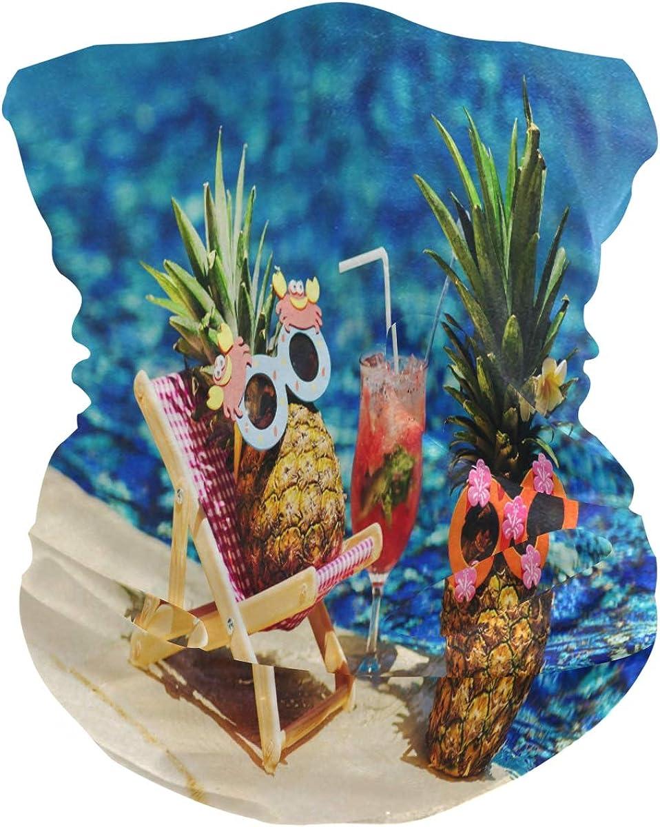 Face Scarf Bandana Neck Gaiter Cool Pineapples Headband Headwear for Cycling Fishing Hiking Camping