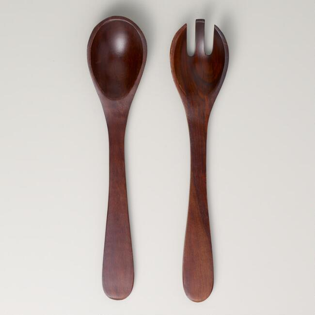 Angled Wood Salad Servers, Set of 2 | World Market