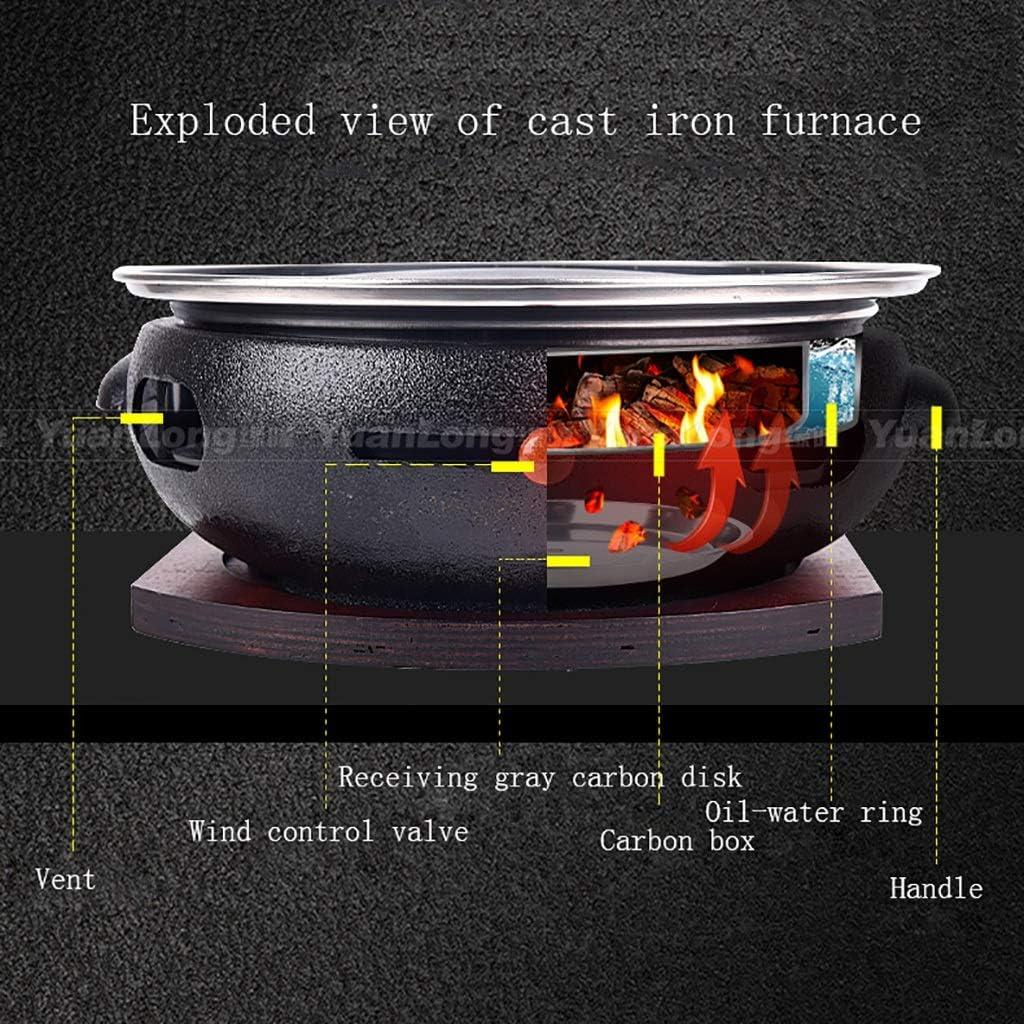 Guoguocy Grills électriques Barbecue, Barbecue, Ménage en Fonte Barbecue, Barbecue au Charbon, antiadhésif de Cuisson Plateau, intérieur extérieur, 11 Styles (Color : A) C