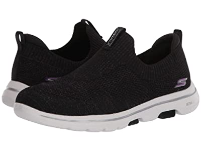 SKECHERS Performance Go Walk 5 Sparkly (Black/Multi) Women