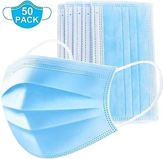 Medical Mask Disposable Face Mask (Blue-30Pcs) Earloop Mouth Mask, Comfortable Sanitary..