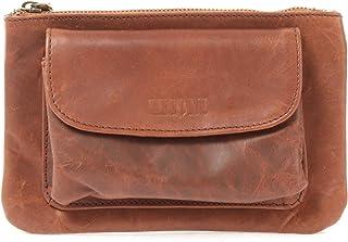 LECONI große Gürteltasche Bauchtasche Leder Hüfttasche für Smartphone  Schlüssel Handytasche Ledertasche für Damen & Herren Rindsleder 20x13x6cm LE9019