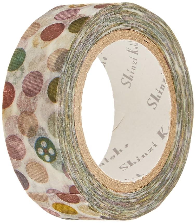 SEAL-DO Shinzi Katoh Washi Masking Tape, 15mm x 10m, Dot (ks-mt-10005)