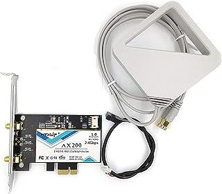 MU-MIMO AX200 AC AX200 WiFi 2.4/ 5ghz Bluetooth 5.0 802.11AX 802.11AX 2.4Gbps Windows 10 対応 デスクトップカード アンテナ付き