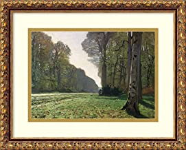 Framed Wall Art Print The Road to Bas-Breau, Fontainebleau (Le Pave de Chailly), c.1865 by Claude Monet 17.62 x 14.12