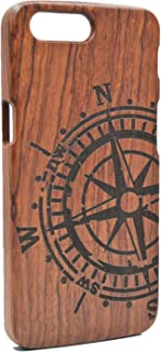 PhantomSky Wooden Phone Case Compatible for OnePlus 5 - Rosewood Compass