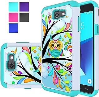 Galaxy J7 V Case, Galaxy J7 2017 Case, Galaxy J7 Sky Pro Case, Galaxy J7 Perx Case, MicroP Hybrid Dual Layer Silicone Plastic Armor Phone Case for Samsung Galaxy J7V 2017 (Armor Owl)