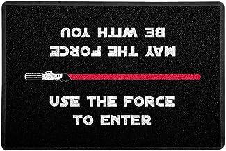 Capacho/Tapete 60 x 40 cm - Use the Force Vermelho, Preto, Beek Geek's Stuff