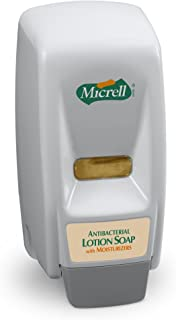 MICRELL 800 Series Antibacterial Lotion Soap Push-Style Dispenser, Dove Grey, Dispenser for