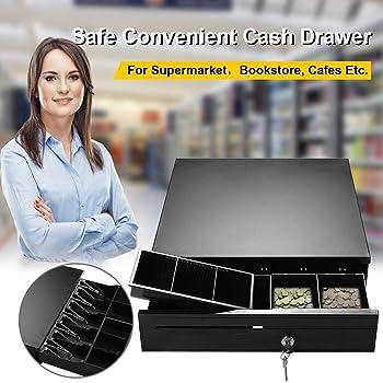 Cajón para Caja de 12 V para pequeñas Empresas, Registro de Efectivo, 4 Billetes y 5 Monedas, Bandeja para Dinero en Efectivo, cajón de Tienda de Till RJ11: Amazon.es: Bricolaje y herramientas