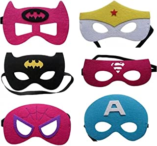 12 Pieces Superheroes Party Character Felt Fun Cosplay Masks Headwear Boys and Girls Theme (SuperGirls)