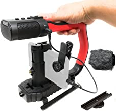 Movo MicRig Extreme Sport Edition - Video Grip Handle with Integrated Stereo Microphone, Windscreen, and Fisheye Lens for iPhone 5, 5C, 5S, 6, 6S, 7, 8, X, XS, XS Max, 11, 11 Pro, Samsung Galaxy Note