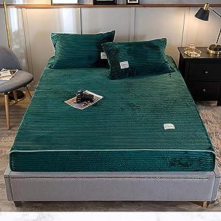 XJJZS Couvre-lit pour lit double Couleur Solide Color Cover Cover Qualité Drap de lit avec une couverture à domicile élast...