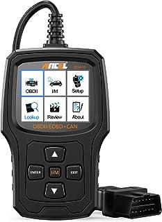 ANCEL EU410PRO OBD2, Lector de código Herramienta de escaneo de luz de Motor de Coche escáner de Sistemas EVAP con Sensor de O2 y Funciones OBD2 Completas