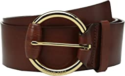 MICHAEL Michael Kors - 55mm Veg Leather Panel Belt on Wrapped Buckle